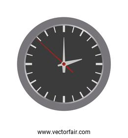 clock circle time traditional icon. Vector graphic