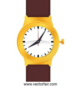 wrist watch time traditional icon. Vector graphic