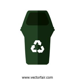 trash recycle organic ecology icon. Vector graphic