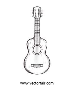 guitar string instrument music icon. Vector graphic