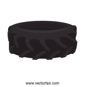 black wheel tire transportation icon. Vector graphic