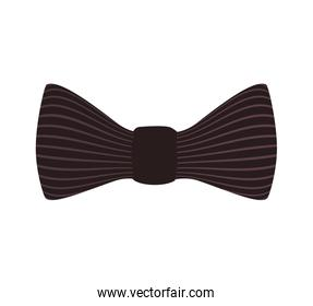 bowtie cloth male isolated icon