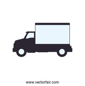truck transportation delivery shipping icon. Vector graphic
