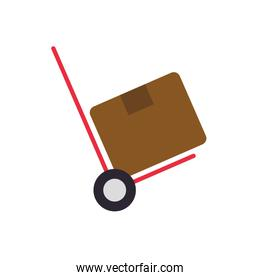 package box cart delivery shipping icon. Vector graphic