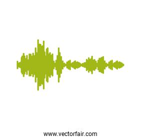 music sound studio wave icon. Vector graphic