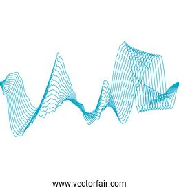 Equalizer music sound studio wave icon. Vector graphic