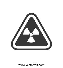 biohazard sign triangle warning icon. Vector graphic