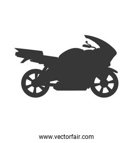 motorcycle motor motorbike transportation icon. Vector graphic