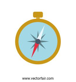 compass navigation instrument antique icon. Vector graphic