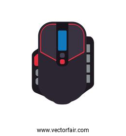 control mouse pixel video game play icon. Vector graphic