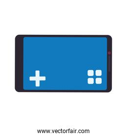 control smartphone pixel video game play icon. Vector graphic