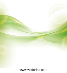 shiny green wave wallpaper . Vector graphic