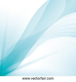 wave wallpaper shiny blue background icon. Vector graphic