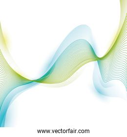 wave wallpaper shiny blue and green background icon. Vector grap