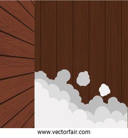 bubbles wood material wallpaper background icon. Vector graphic