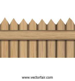 wood material fence icon. Vector graphic