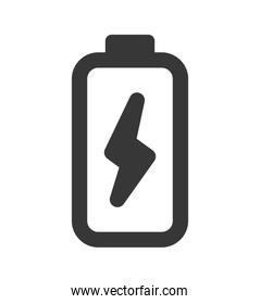battery thunder energy power icon. Vector graphic