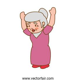 grandmother old person woman female icon. Vector graphic