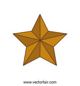 star gold shape decoration icon. Vector graphic