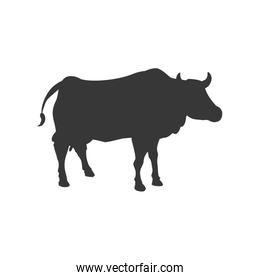Cow animal farm pet character icon. Vector graphic