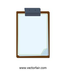 Document information data paper icon. Vector graphic