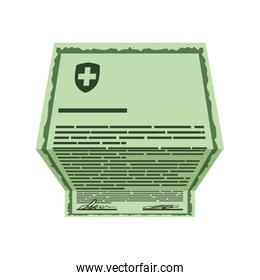 History document medical health care icon. Vector graphic