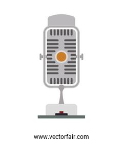 Microphone technology retro vintage icon. Vector graphic
