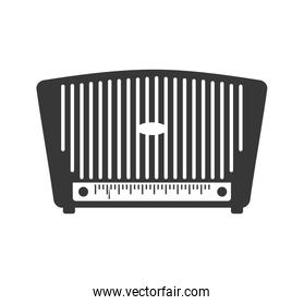 Radio technology retro vintage icon. Vector graphic