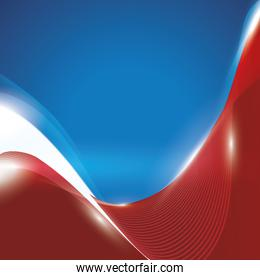 Usa patrotism culture blue red icon. Vector graphic