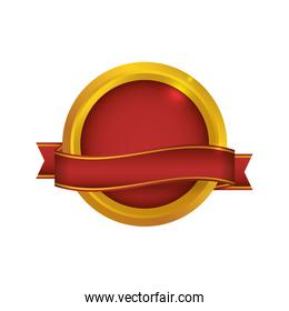 Seal stamp circle label icon. Vector graphic
