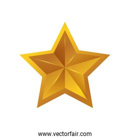 Star gold shape yellow icon. Vector graphic