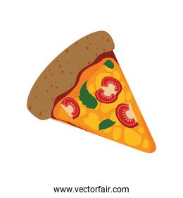 Pizza food menu fast dinner icon. Vector graphic