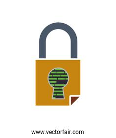 Padlock security system protection icon. Vector graphic