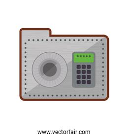 Strongbox security system protection icon. Vector graphic