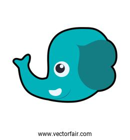 Elephant cute animal little icon. Vector graphic