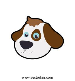 Dog cute animal little icon. Vector graphic