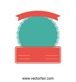 Seal stamp label banner icon. Vector graphic