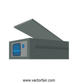 Strongbox security money financial item icon. Vector graphic
