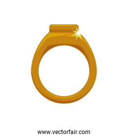 Ring accesory gold jewelry icon. Vector graphic