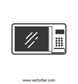 microwave supply house electric appliance icon. Vector graphic