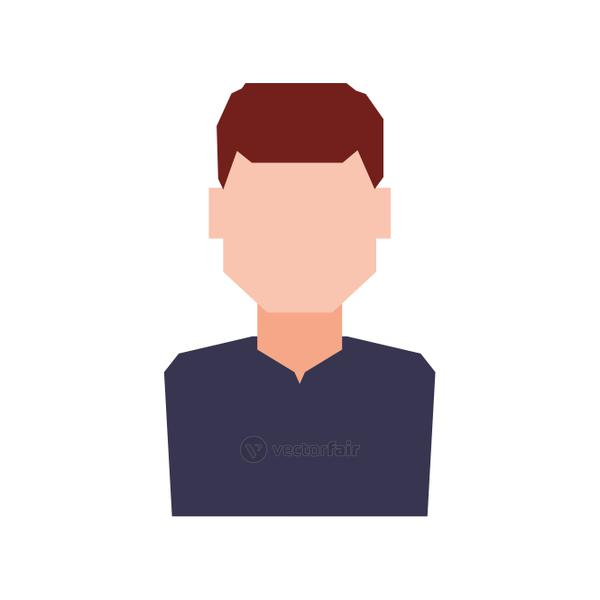 Man male avatar person people icon. Vector graphic