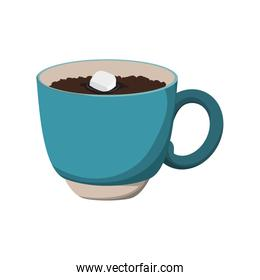 chocolate drink mug sweet icon. Vector graphic