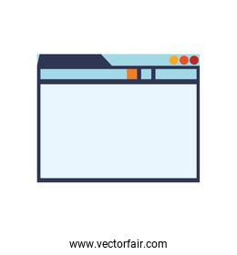 website internet web technology icon.  Vector graphic