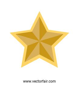 star shape decoration style icon. Vector graphic