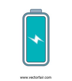 Battery energy power charge icon. Vector graphic
