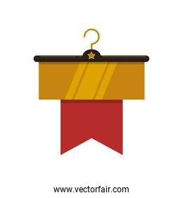 sale label hook offer banner icon. Vector graphic