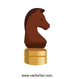 Chess horse game strategy icon. Vector graphic