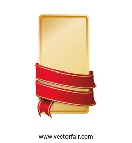 ribbon label red banner icon. Vector graphic