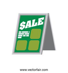 shopping sale banner store icon. Vector graphic