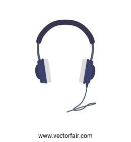 headphone sound music technology icon. Vector graphic